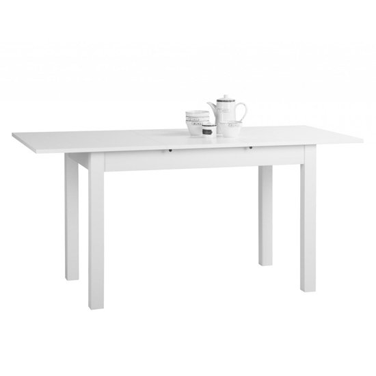 Stripe Medium Extendable Dining Table In White