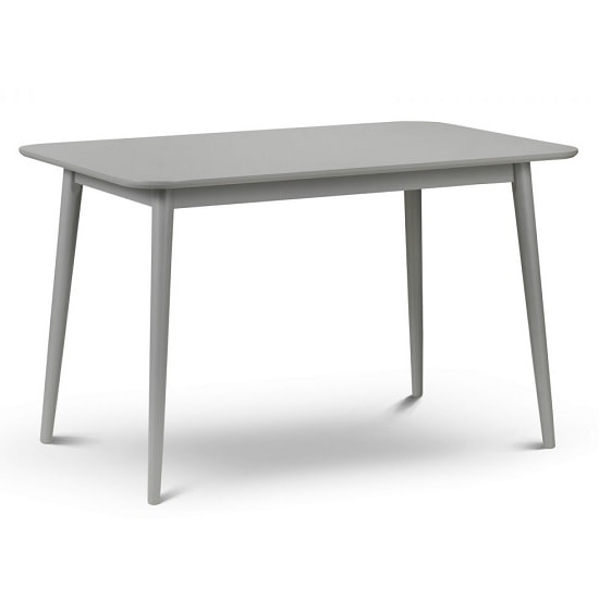 Stugard Wooden Dining Table Rectangular In Grey