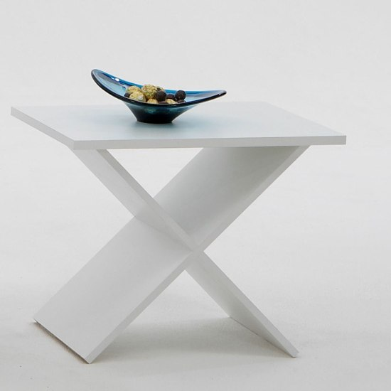 Phil Stylish End Table In White