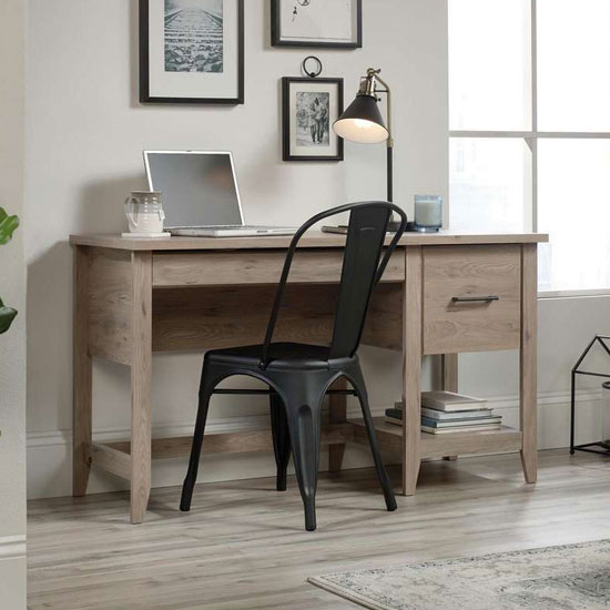 Summit Wooden Laptop Desk In Laurel Oak