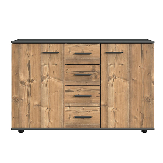Susan Large Wooden Sideboard In Silver