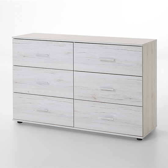 Susan Wooden Chest Of Drawers In White Oak