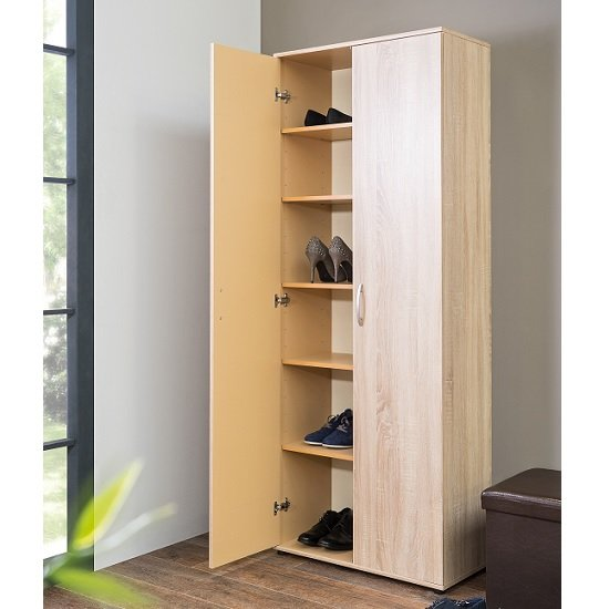 Swansea Wooden Storage Cabinet In Sonoma Oak With 2 Doors