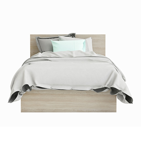 Swatch Wooden Single Bed In Shannon Oak And Pearl White_2