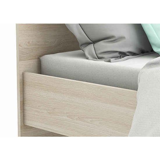 Swatch Wooden Single Bed In Shannon Oak And Pearl White_3