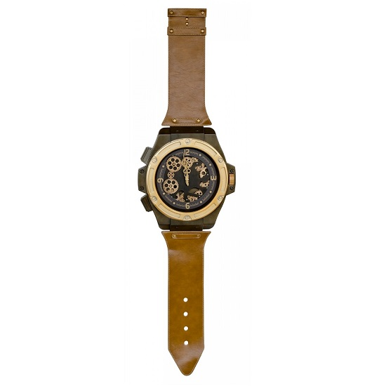 Swisk Novelty Wrist Watch Wall Clock In Tan Finish_1