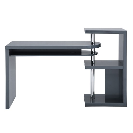 Sydney Rotating Office Desk in High Gloss Grey_3