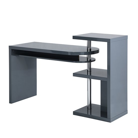 Sydney Rotating Office Desk in High Gloss Grey_6