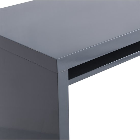 Sydney Rotating Office Desk in High Gloss Grey_7