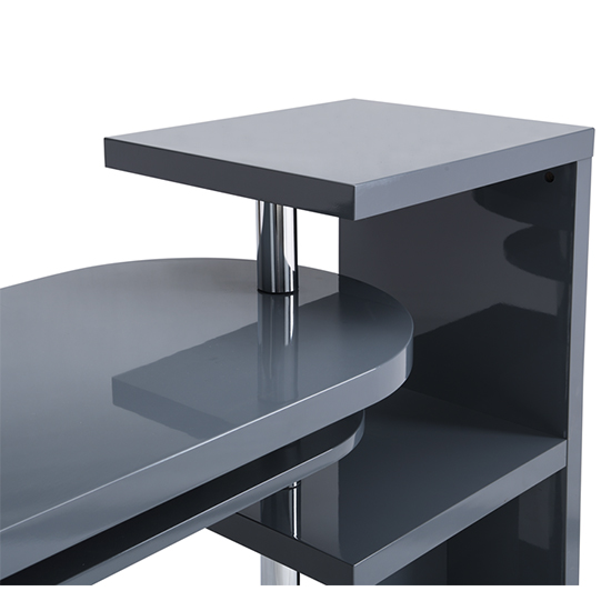Sydney Rotating Office Desk in High Gloss Grey_8