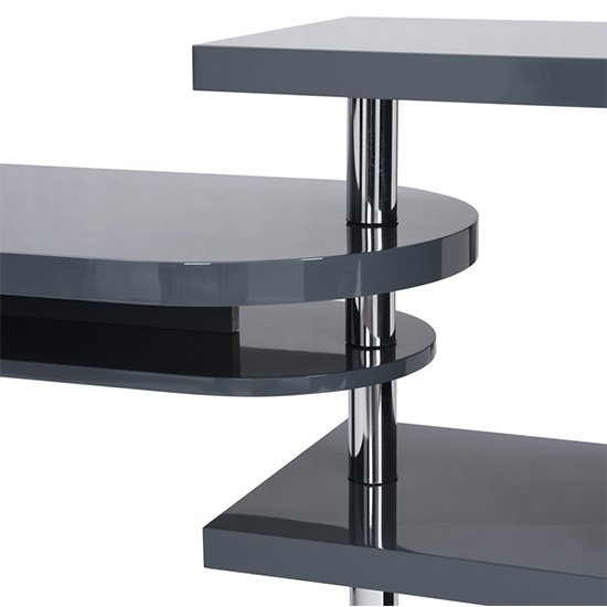 Sydney Rotating Office Desk in High Gloss Grey_9