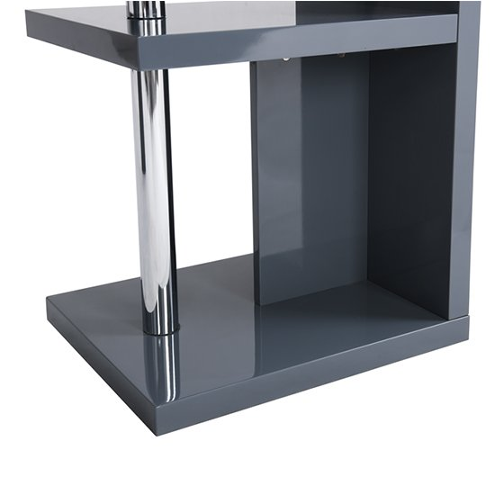 Sydney Rotating Office Desk in High Gloss Grey_10