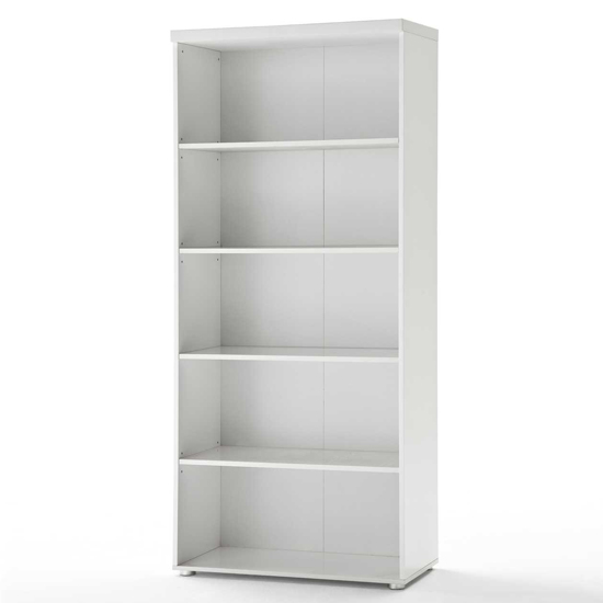 Sydney Shelving Unit in High Gloss White With 4 Shelf