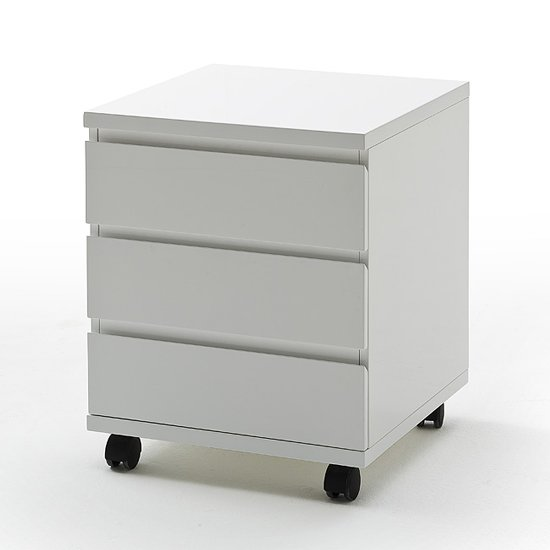 Sydney Chest of 3 Drawers In White High Gloss
