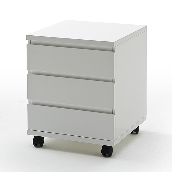 Sydney Chest Of 3 Drawers In White High Gloss 19693