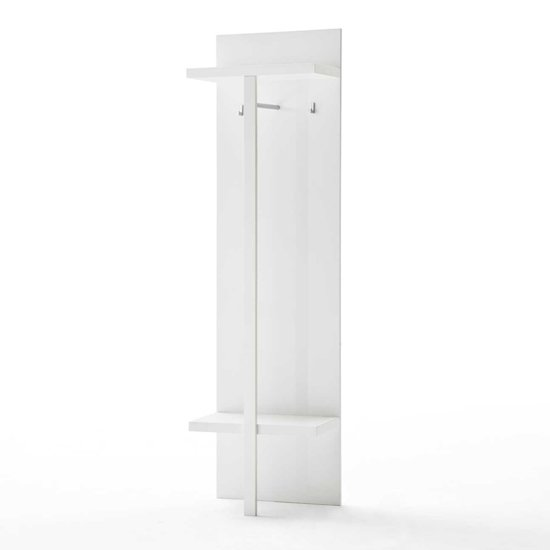 Read more about Sydney wall mounted hallway storage in high gloss white