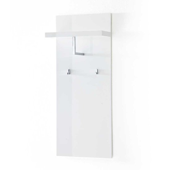 Sydney Wall Mounted Coat Stand In High Gloss White