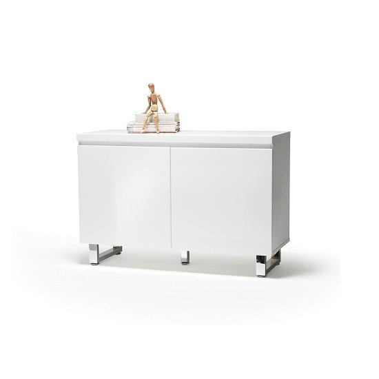 Sydney Small Sideboard In High Gloss White With 2 Doors_2