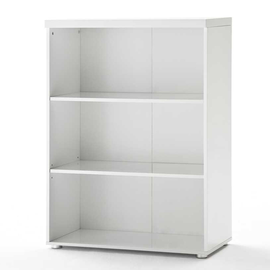 Read more about Sydney small shelving unit in high gloss white