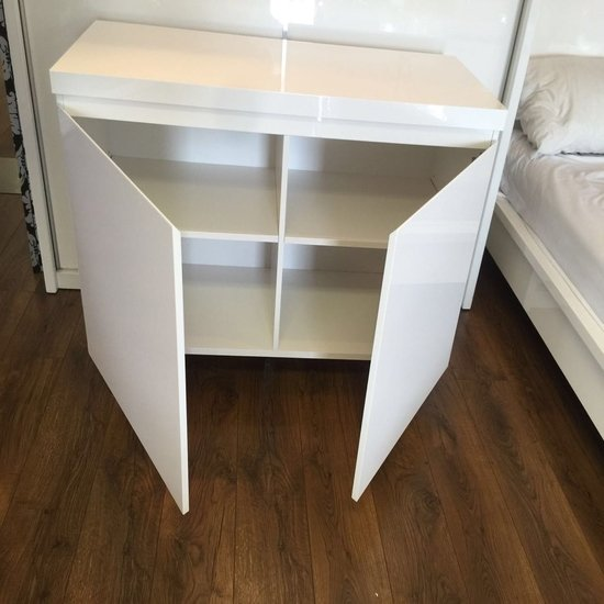 Sydney Small Sideboard In High Gloss White With 2 Doors_7