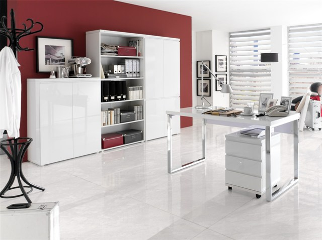 Sydney 4 Door Storage Cabinet in High Gloss White