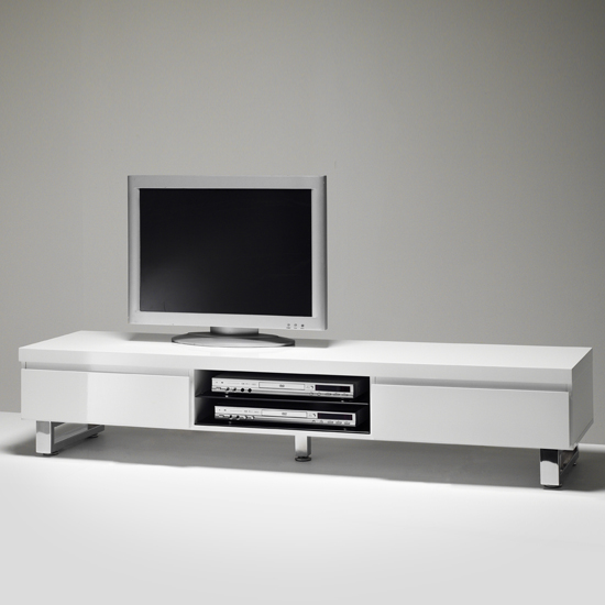 Davos Coffee Table High Gloss White With Multi Storage Funct