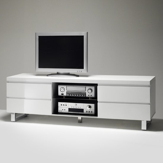 Read more about Sydney lowboard tv stand in high gloss white