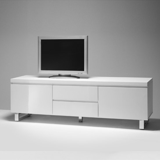 Sydney Lowboard LCD TV Stand In High Gloss White