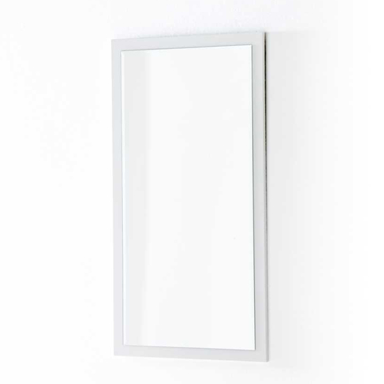 Sydney Wall Mirror On A High Gloss White Wall Mount