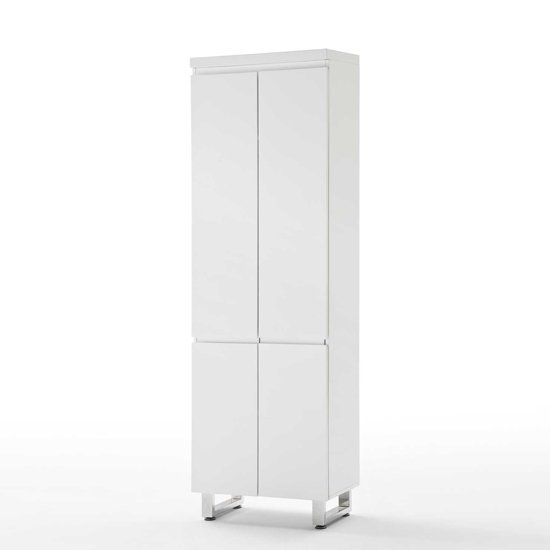 Sydney Wardrobe in High Gloss White 4 Door