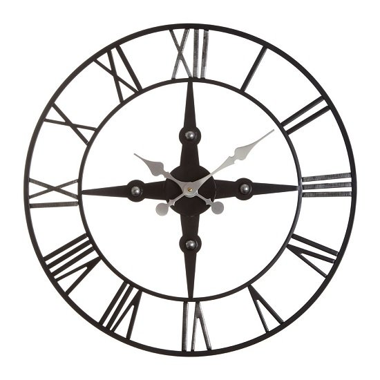 Symbia Metal Wall Clock Round In Black_2