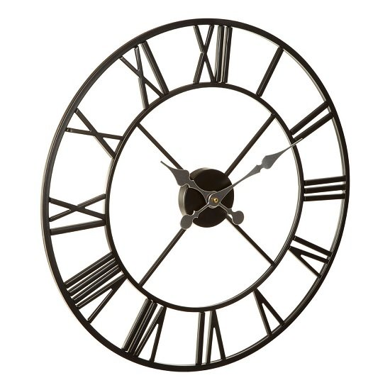 Symbia Wall Clock Round In Black Metal Frame