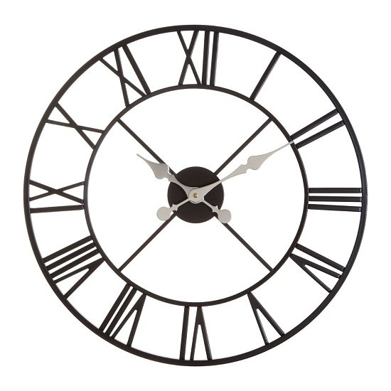 Symbia Wall Clock Round In Black Metal Frame_2
