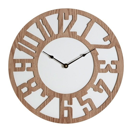Symbia Wooden Wall Clock Round In Natural_2