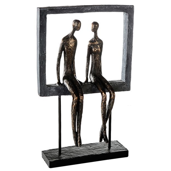 Sympathy Poly Design Sculpture In Burnished Bronze And Black