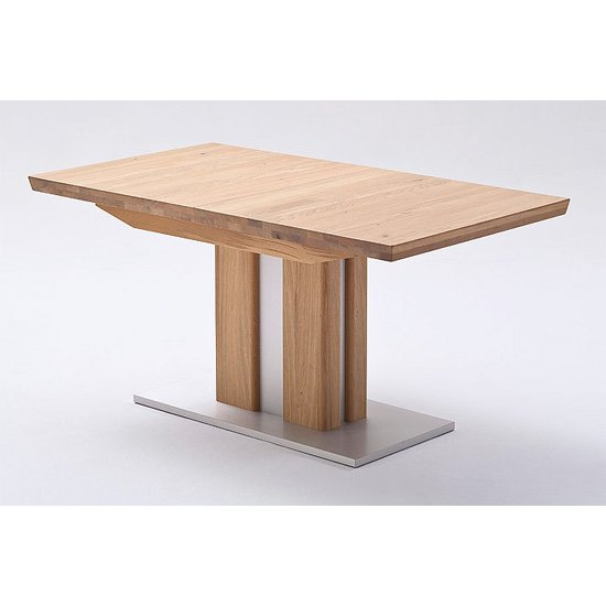 Bergamo Extendable Dining Table In Solid Oak
