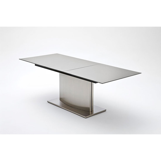 Memory Extendable Grey Glass Dining Table