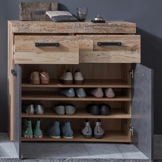 Tailor Shoe Storage Cabinet In Pale Wood And Matera_2