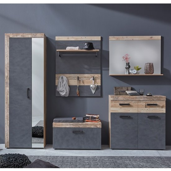 Tailor Shoe Storage Cabinet In Pale Wood And Matera_3