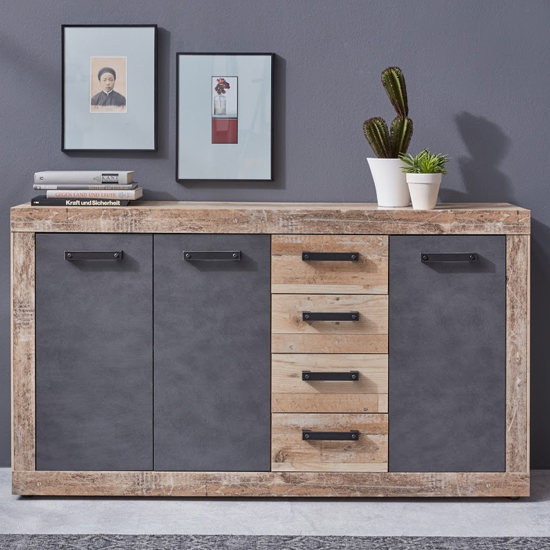 Tailor Wooden Large Sideboard In Pale Wood And Matera