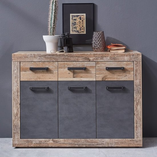 Tailor Wooden Medium Sideboard In Pale Wood And Matera