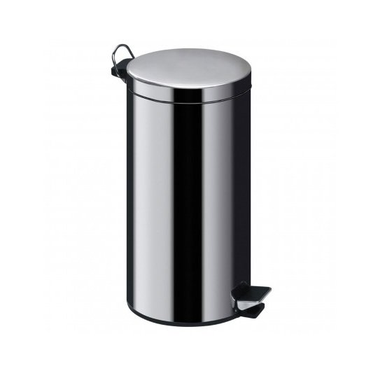 Taimur Pedal Stainless Steel Bin In Silver Finish