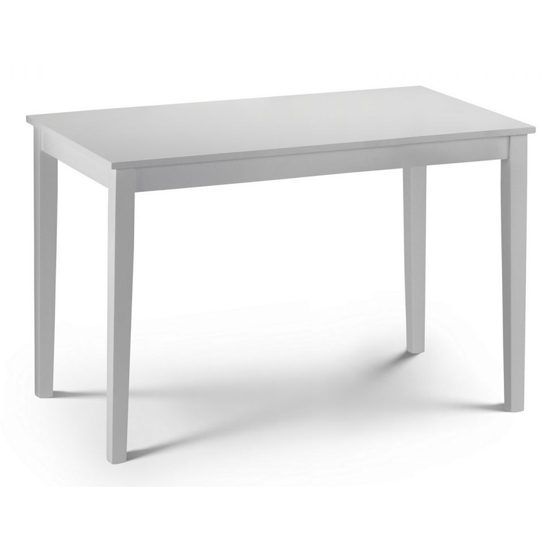 Taku Wooden Dining Table In White Lacquer