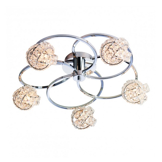 Talia Five Ceiling Light With Round Base