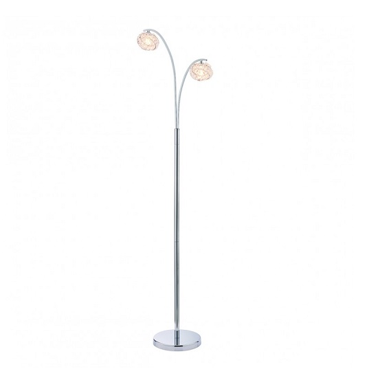 Talia Floor Lamp In Polished Silver Finish