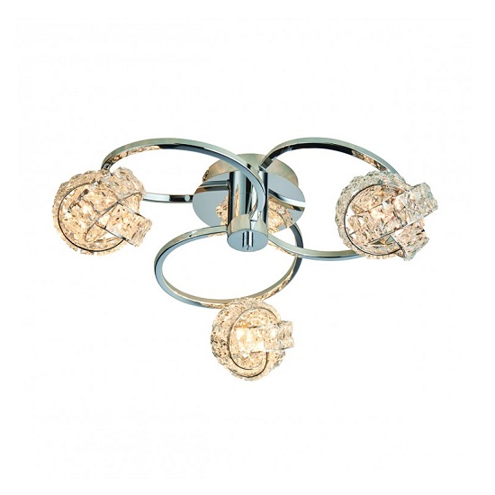 Talia Three Ceiling Light With Round Base_1