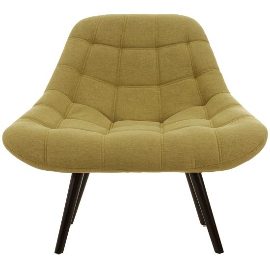 Hyadum Faux Linen Upholstered Bedroom Chair In Green    _1