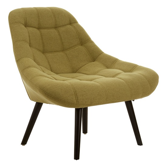 Hyadum Faux Linen Upholstered Bedroom Chair In Green    _2