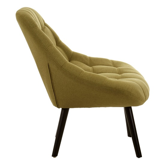 Hyadum Faux Linen Upholstered Bedroom Chair In Green    _3