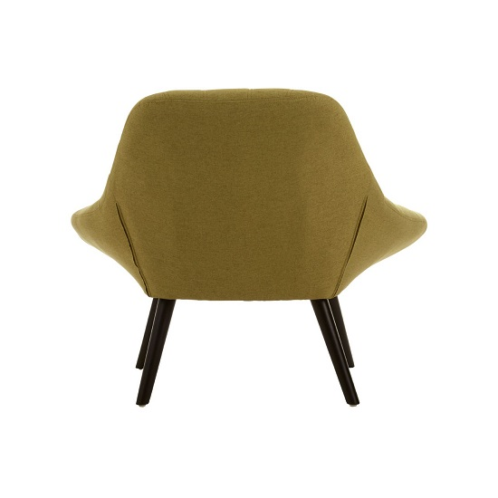 Hyadum Faux Linen Upholstered Bedroom Chair In Green    _4
